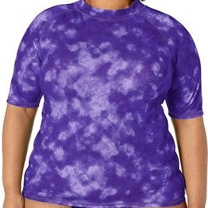 Kanu Surf Womens Plus Size UPF50 Active Rash Guard